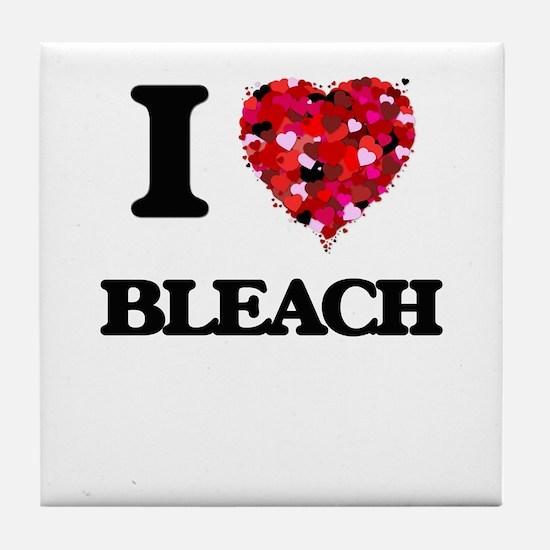 I Love Bleach Tile Coaster