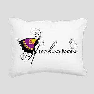 Fuck Cancer 2 Rectangular Canvas Pillow