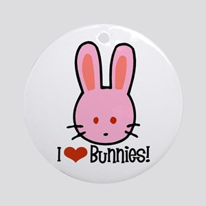 I Love Bunnies Ornament (Round)