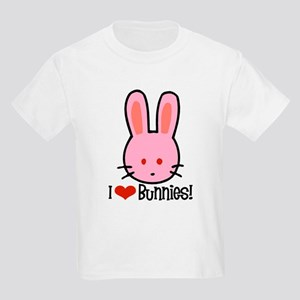 I Love Bunnies Kids Light T-Shirt