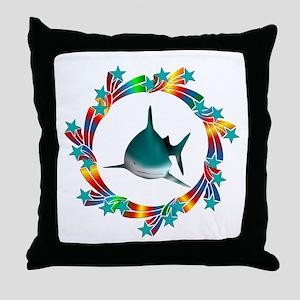 Shark Stars Throw Pillow