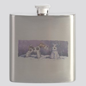 Wire Fox Winter Flask