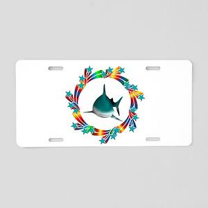 Shark Stars Aluminum License Plate