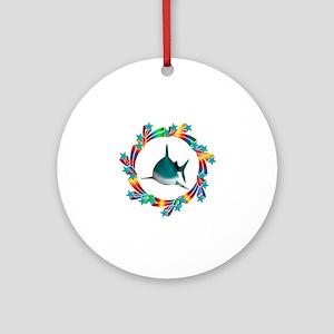 Shark Stars Round Ornament