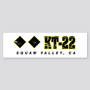 Ski Squaw Valley, KT-22 Bumper Sticker