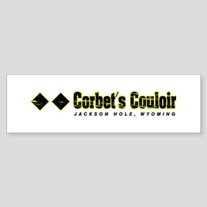 Ski Jackson Hole, Corbert's Couloir Bumper Sticker