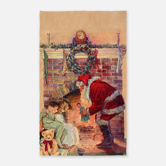 The Night Before Christmas - A Visit From Area Rug