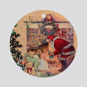 The Night Before Christmas - A Visi Round Ornament