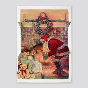 A Visit from Saint Nick 5'x7'Area Rug