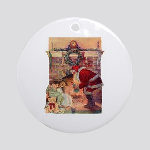 A Visit from Saint Nick Round Ornament