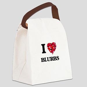 I Love Blurbs Canvas Lunch Bag