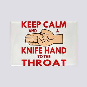 A Knife Hand To Throat 2 Rectangle Magnet