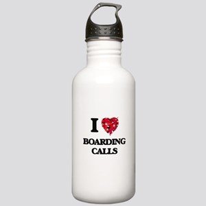 I Love Boarding Calls Stainless Water Bottle 1.0L
