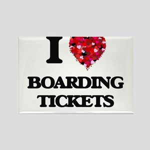 I Love Boarding Tickets Magnets