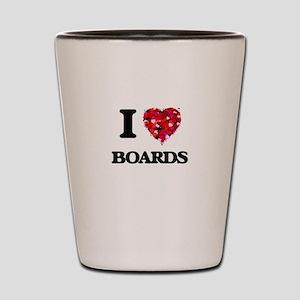I Love Boards Shot Glass