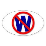 Oval Sticker NO W