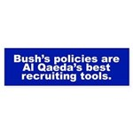 Bush's Policies Bumper Sticker