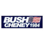 Bumper Sticker BUSH CHENEY 1984