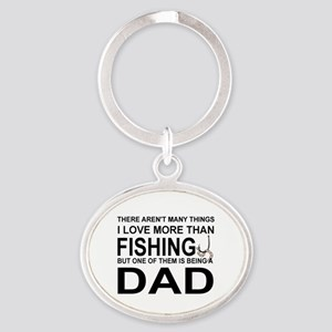 DAD - THERE AREN'T MANY THINGS I LKO Oval Keychain