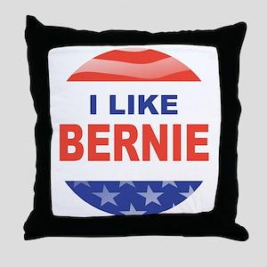 i like bernie stars n stripes Throw Pillow