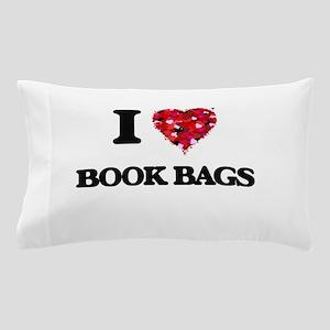I Love Book Bags Pillow Case