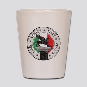Venice Italy Stamp Shot Glass