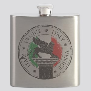 Venice Italy Stamp Flask