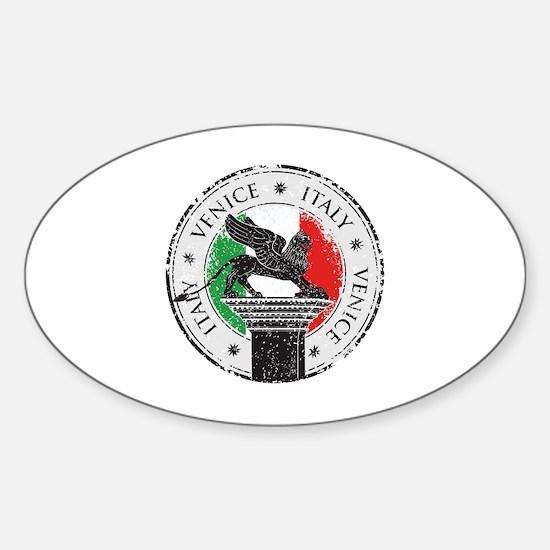 Venice Italy Stamp Sticker (Oval)