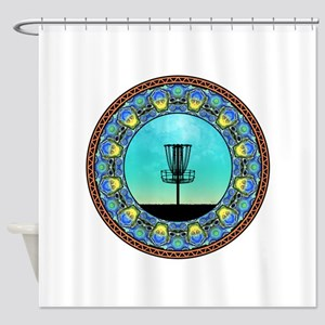 Disc Golf Abstract Basket 5 Shower Curtain
