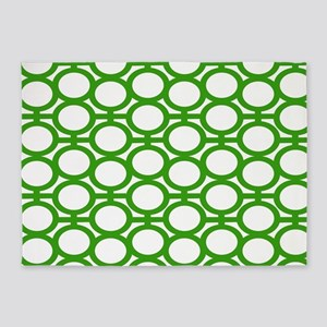 Bright Green Bubble Eyelets 5'x7'Area Rug