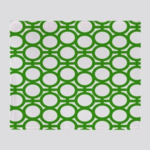 Bright Green Bubble Eyelets Throw Blanket