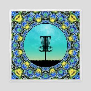 Disc Golf Abstract Basket 5 Queen Duvet