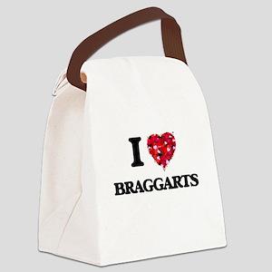 I Love Braggarts Canvas Lunch Bag