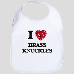 I Love Brass Knuckles Bib