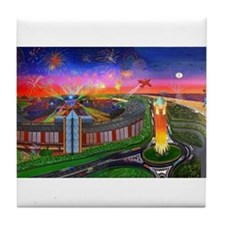 The Jones Beach Theatre and Fireworks Tile Coaster