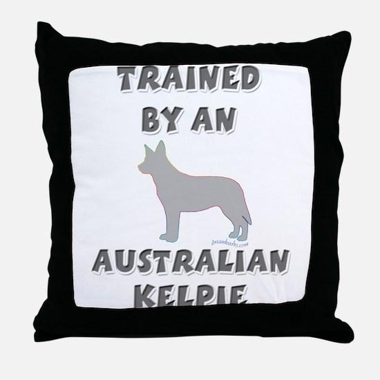 Kelpie Slvr Throw Pillow