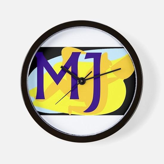 MJ (DARK) Wall Clock
