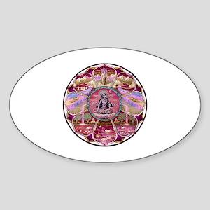 Tara Heaven Mandala Sticker (Oval)