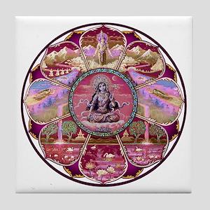 Tara Heaven Mandala Tile Coaster