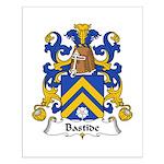 Bastide Family Crest Small Poster
