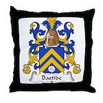 Bastide Family Crest Throw Pillow