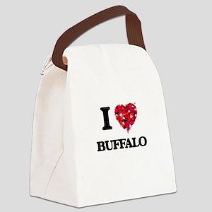 I Love Buffalo Canvas Lunch Bag