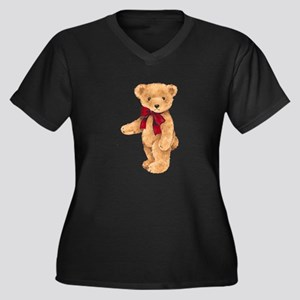 Teddy - My F Women's Plus Size V-Neck Dark T-Shirt