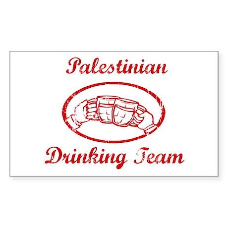 Palestinian Drinking Team Rectangle Sticker