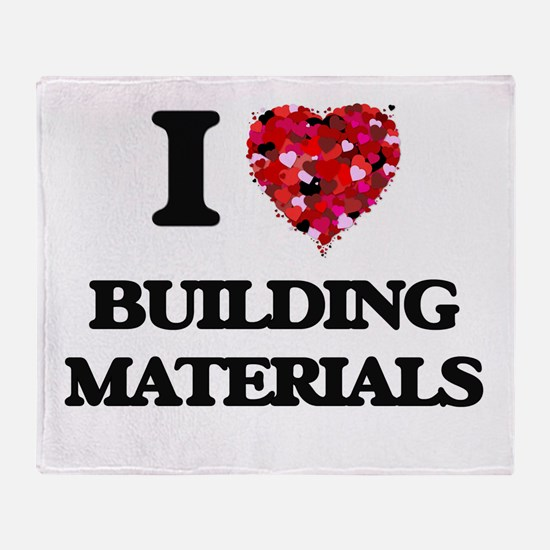 I Love Building Materials Throw Blanket