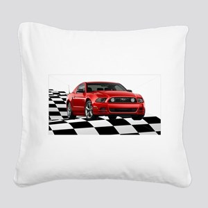 2014RRMustangGT Square Canvas Pillow