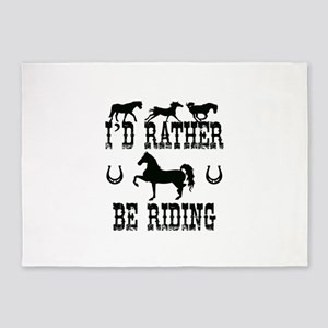 Horse - I'd Rather Be Riding 5'x7'Area Rug