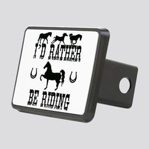 Horse - I'd Rather Be Ridi Rectangular Hitch Cover