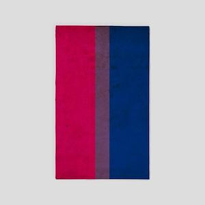 Vintage Bisexual Pride Flag 3'x5' Area Rug
