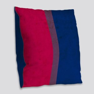 Vintage Bisexual Pride Burlap Throw Pillow